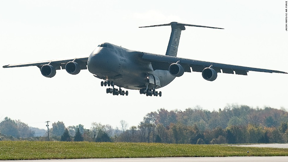 The C-5, with a wingspan of 222 feet, a length of 247 feet and a height of 65 feet, is the largest plane in the Air Force inventory and one of the largest aircraft in the world. The first versions of the four-engine jet joined the force in 1970. The Air Force expects to have 52 versions of the latest model, the C-5M, in the fleet by 2017.
