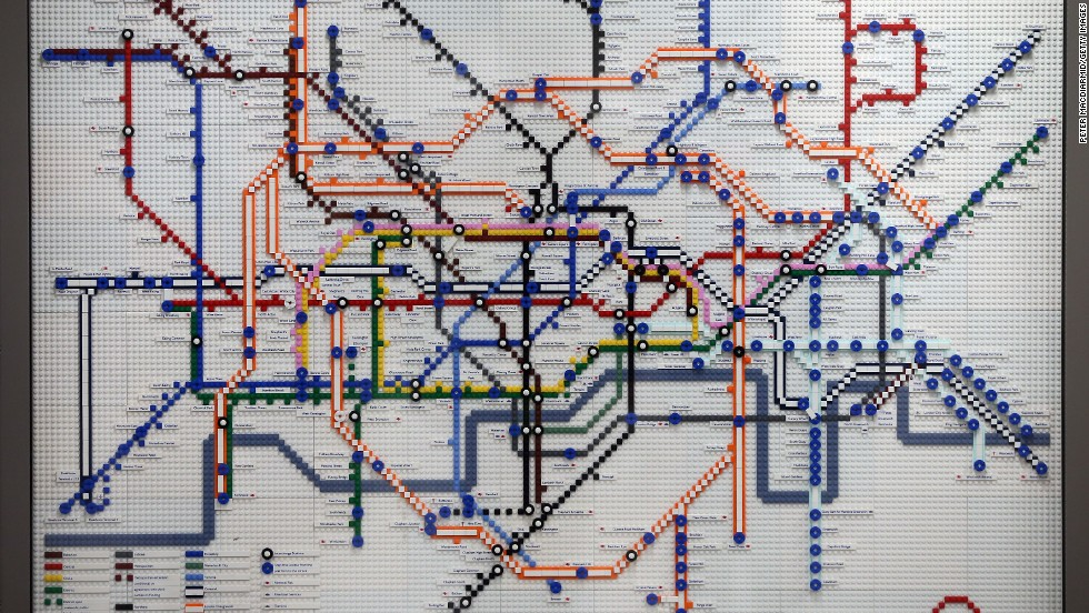 To celebrate its 150th anniversary, London Underground has created a series of Tube maps made entirely from Lego.