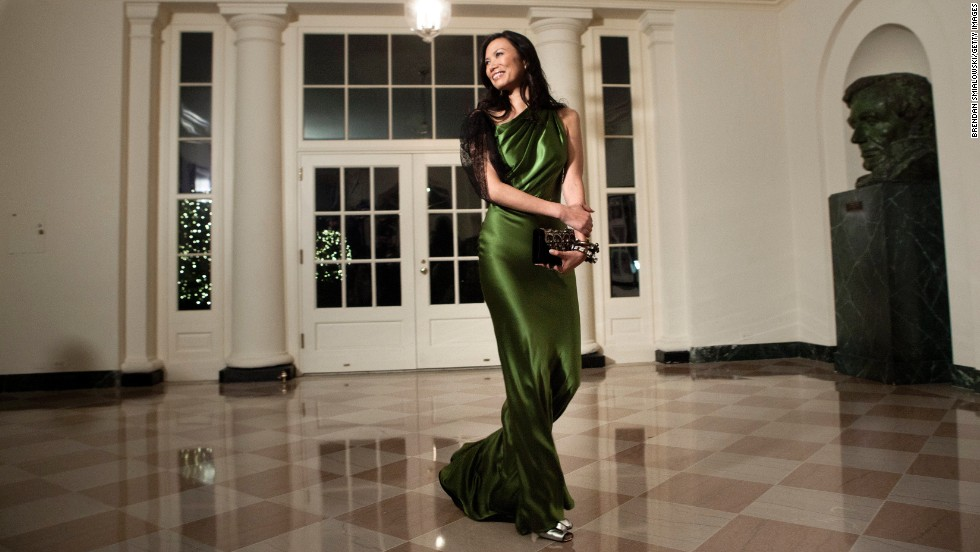 Wendi Deng Murdoch, a 44-year-old businesswoman and mother of two, has been married to media mogul Rupert Murdoch since 1999. The pair made headlines this month when it was announced that Murdoch had filed for divorce. Above, Deng arrives at the White House for a state dinner on January 19, 2011.