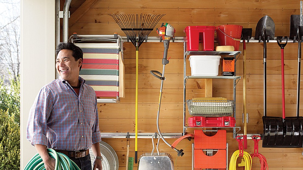 A clean and organized garage will show off all dad's tools and equipment.
