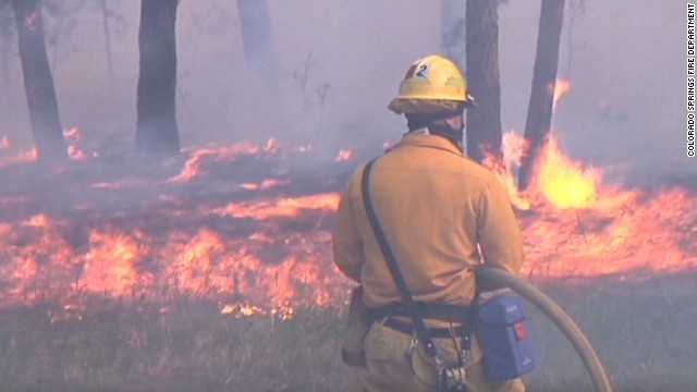 See what it's like to battle a wildfire