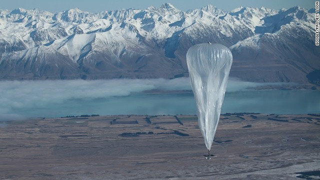 Google wants to beam the Internet to wilderness areas by using high-flying balloons. (Click to expand.)