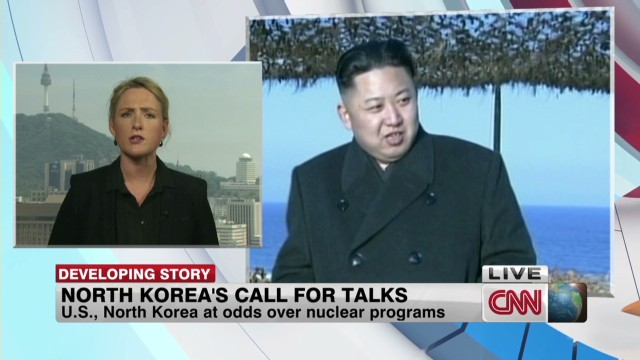 North Korea calls for talks with U.S.