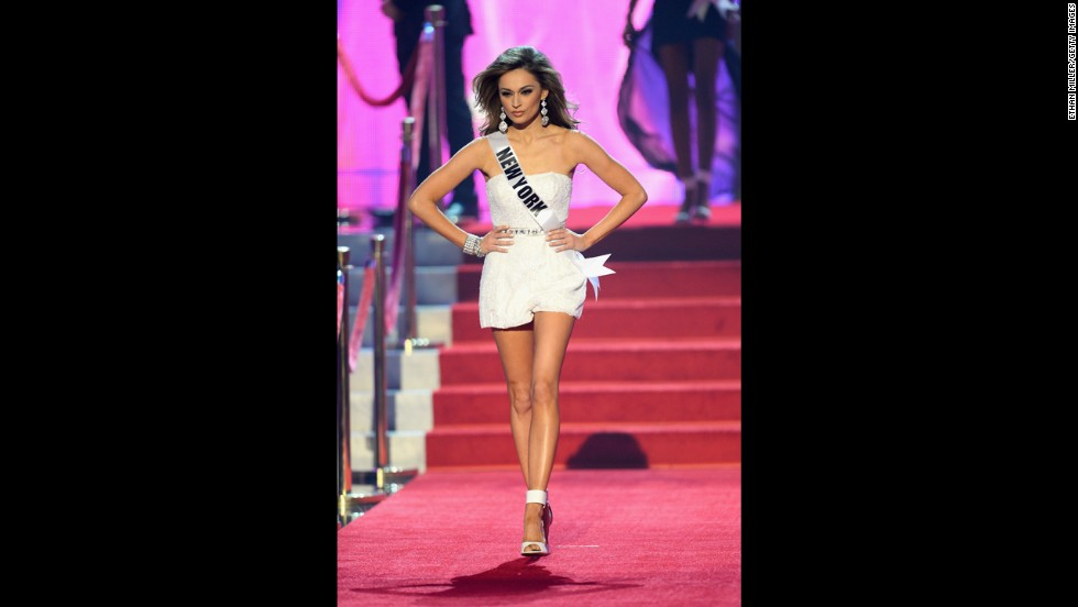 Miss New York Joanne Nosuchinsky walks onstage.