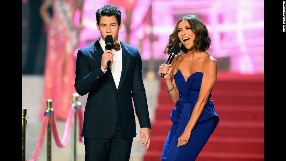 Nick Jonas and Giuliana Rancic host the Miss USA proceedings.