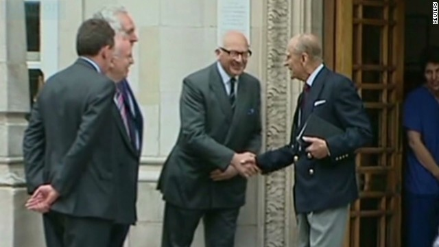 Watch Prince Philip leave hospital