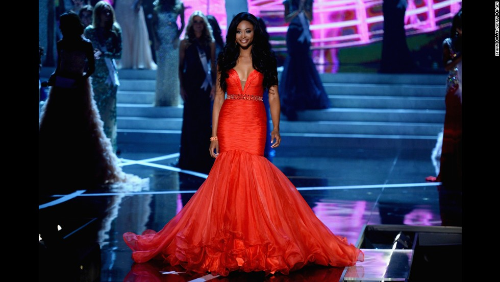 Miss USA 2012 Nana Meriwether appears during the 2013 pageant.