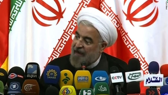 Iranian President-elect Hassan Rouhani speaks on Monday, June 17.