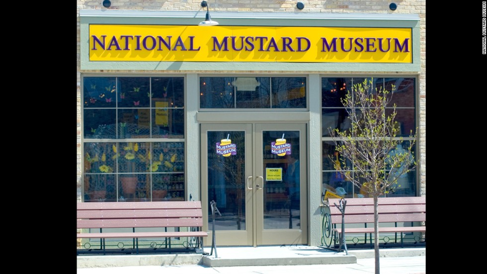 Prepared mustards (5,500-plus containers!) from all 50 states and more than 70 countries are on display at the National Mustard Museum in Middleton, Wisconsin.
