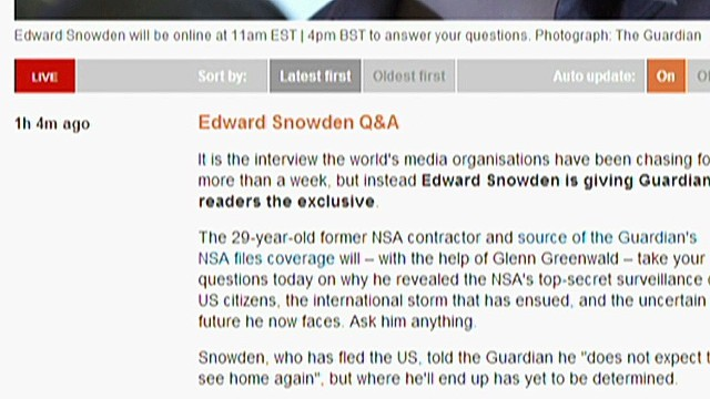 Snowden: Hong Kong was easiest answer