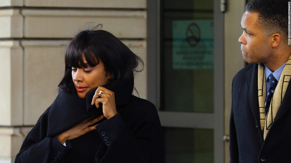 Jackson and his wife, Sandi, leave U.S. District Court in Washington on February 20 after entering guilty pleas. <br />