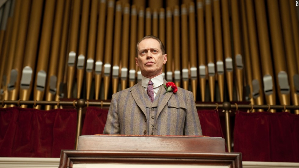 "Steve Buscemi plays Atlantic City mobster Nucky Thompson in HBO's ""Boardwalk Empire."""