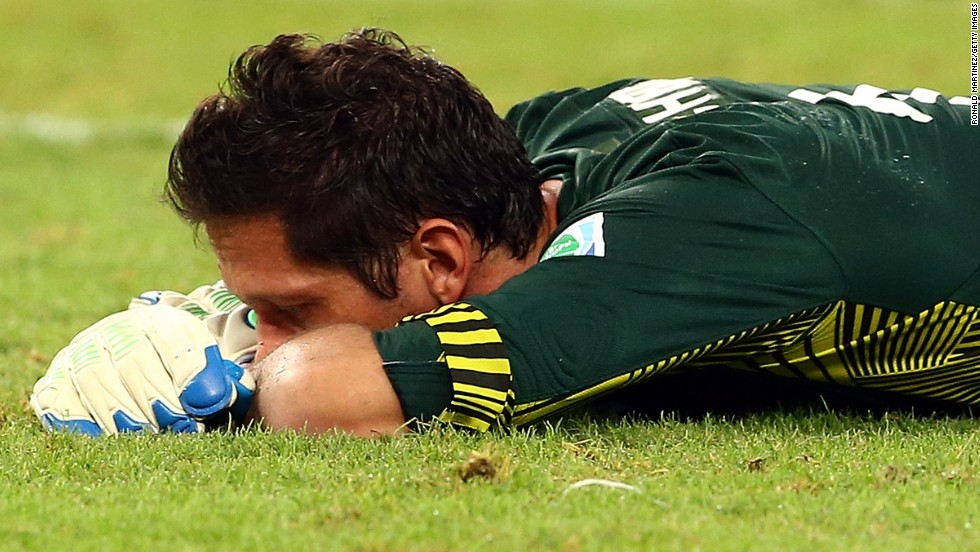 Tahiti goalkeeper Mickael Roche had his busiest evening on a football field as Spain peppered his goal.