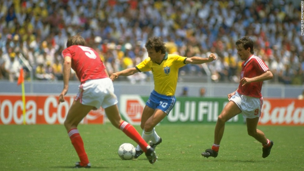 After a Pele-inspired triumph in 1970, Brazil would wait 24 years before lifting the World Cup again. Although the 1980s was a barren decade in terms of trophies for Brazil, the team which the South Americans sent to the 1982 World Cup is heralded as one of the most entertaining in history. Central to its free-flowing, attacking style was Zico, a midfielder of considerable craft and guile who collected 72 caps between 1976 and 1988.