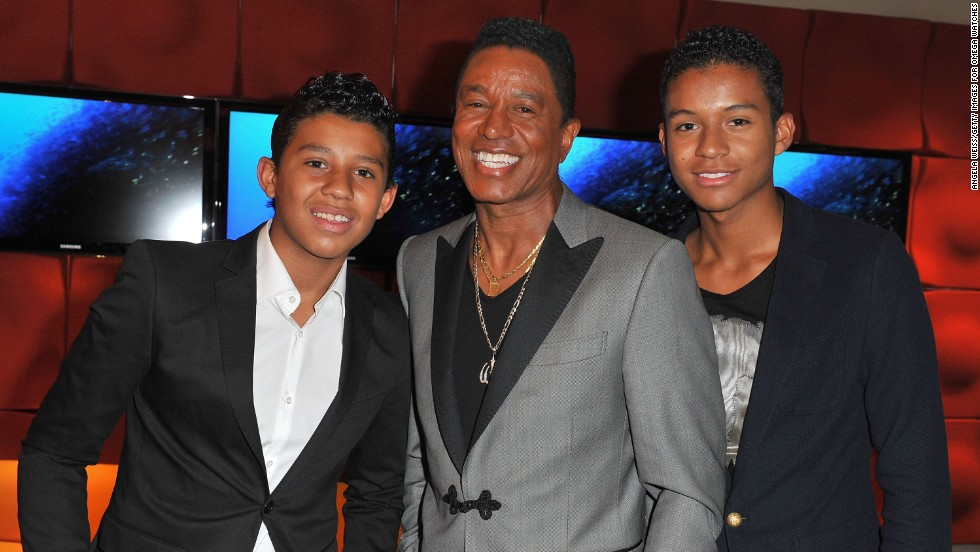 In Jermajesty's family, it's his sibling Jeremy who's the odd man out. Jermaine Jackson's other son's name is Jaafar, who's seen here on the right. Jermajesty, left, fits right in.