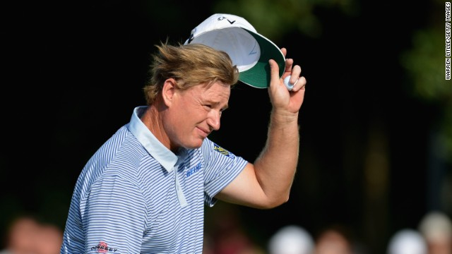 Ernie Els stayed ahead of his rivals with a last hole birdie in the BMW International second round in Munich.