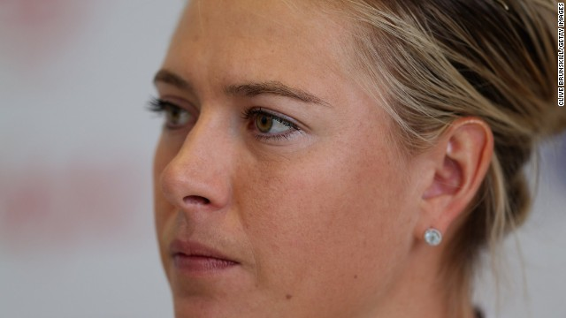 Maria Sharapova has taken a dim view of apparent references to her made by arch-rival Serena Williams.