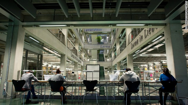 Students read in the library of the Technische Universitaet in Berlin on November 14, 2012.