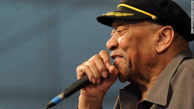 "Bobby ""Blue"" Bland performs during the New Orleans Jazz & Heritage Festival in 2011."