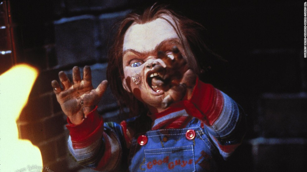 "Puppets can be terrifying too. Case in point: <strong>Chucky</strong>, the ""Good Guy"" doll possessed by the spirit of a serial killer in the movie ""Child's Play."" The mixture of childlike puppets and murderous violence provoked controversy -- with protesters claiming Chucky made children violent -- but the film's popularity was not damaged. It has since spawned five sequels."