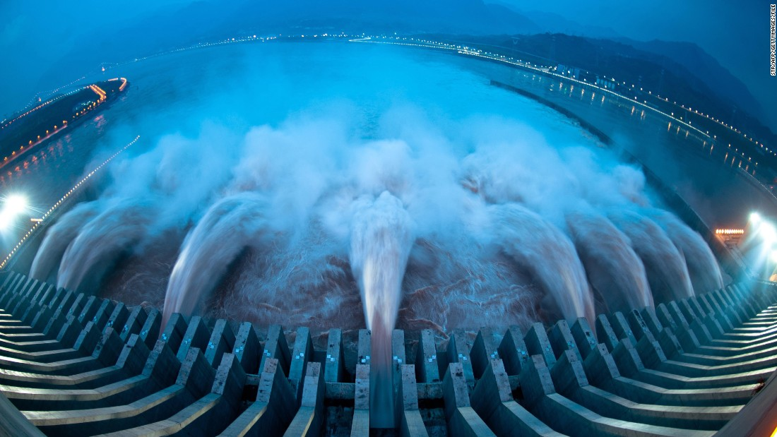 Chinese construction companies are developing a record-breaking hydropower project in Nigeria that has been compared to the world's largest hydropower plant the Three Gorges Dam (pictured) in Yichang, China.