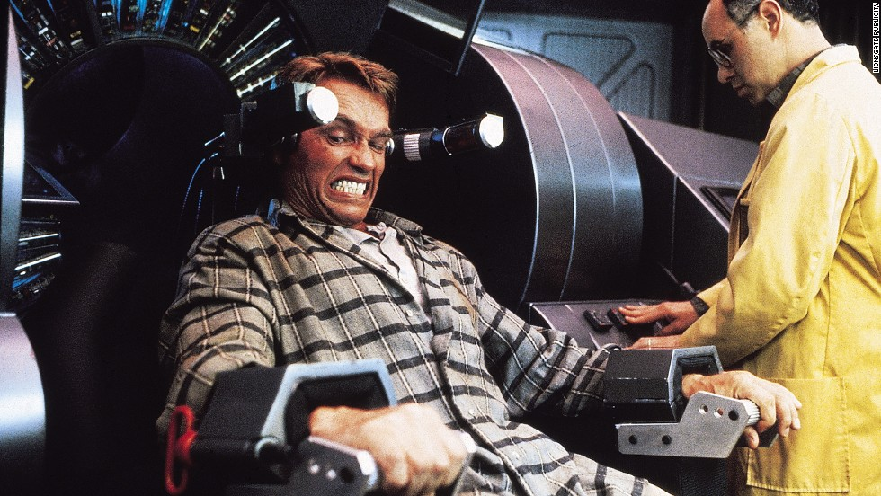 "Arnold Schwarzenegger had a lot of dreams in 1990's ""Total Recall,"" but the violence was very real as he headed to Mars to figure out his memories."