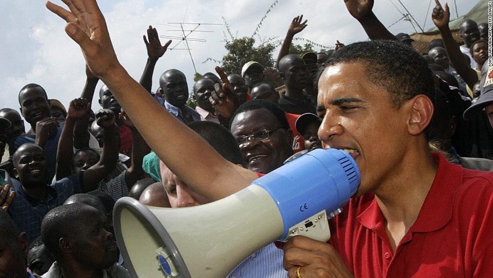 When he still a senator, in August 2006, Obama was cheered by hundreds in Kenya's Kibera slum. But on this visit to Africa, South African unions are calling for protests over U.S. foreign policy.