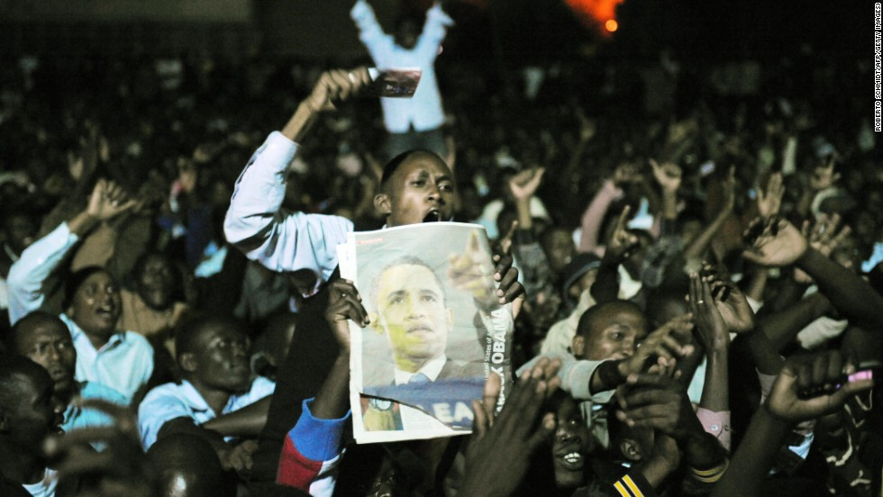 Thousands of Kenyans gathered on the grounds of the University of Nairobi to watch Obama's inauguration ceremony on January 20, 2009 in Nairobi. But Obama has yet to visit Kenya as president, and it is not on the itinerary of his 2013 Africa trip.
