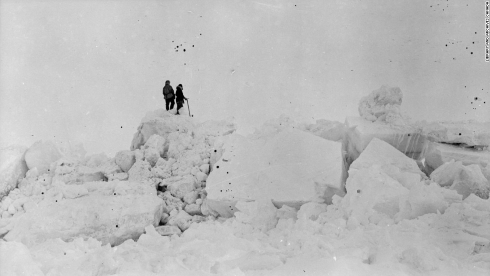 After drifting for five months, the ship sank under the ice one night, forcing everyone to move themselves and their gear onto the ice. Desperate to save his men, Bartlett made a risky decision. He and a crewman traveled by sled across ice riddled with daunting ridges and treacherous gaps to find help in Siberia, hundreds of miles away.
