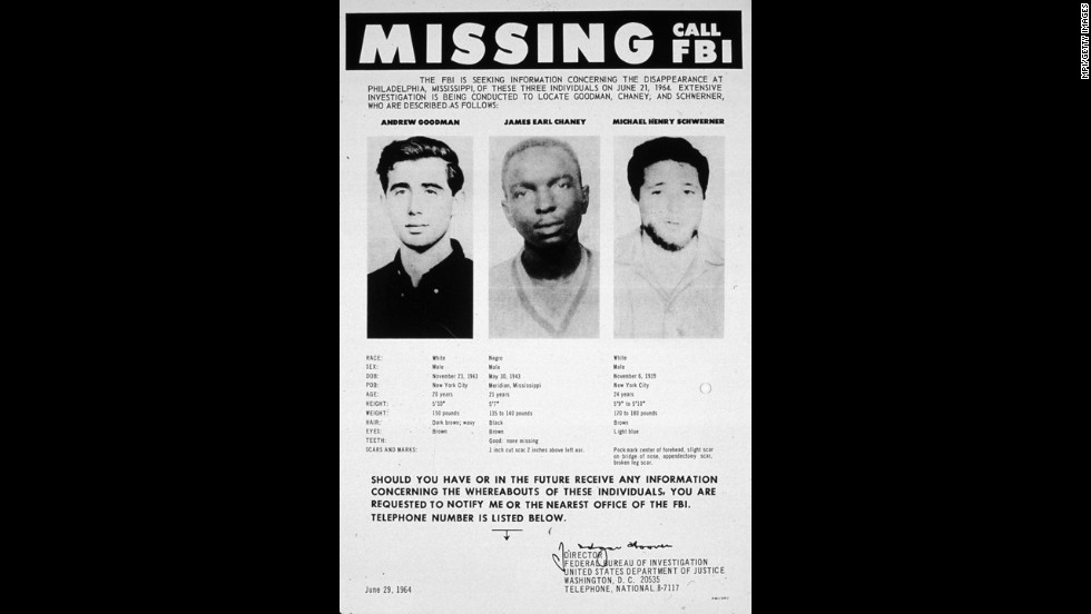 Three young civil rights workers were murdered  in 1964 in Mississippi while trying to register black voters. The infamous murders showed that segregationists were willing to kill to keep African-Americans from voting.