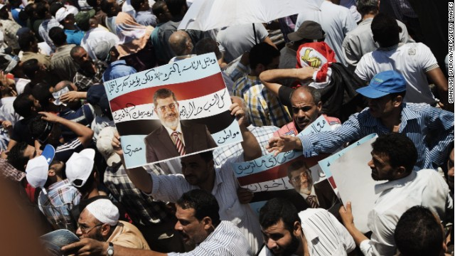 The Muslim Brotherhood marks the one year anniversary since President Mohamed Morsi was elected, on June 21, in Cairo.
