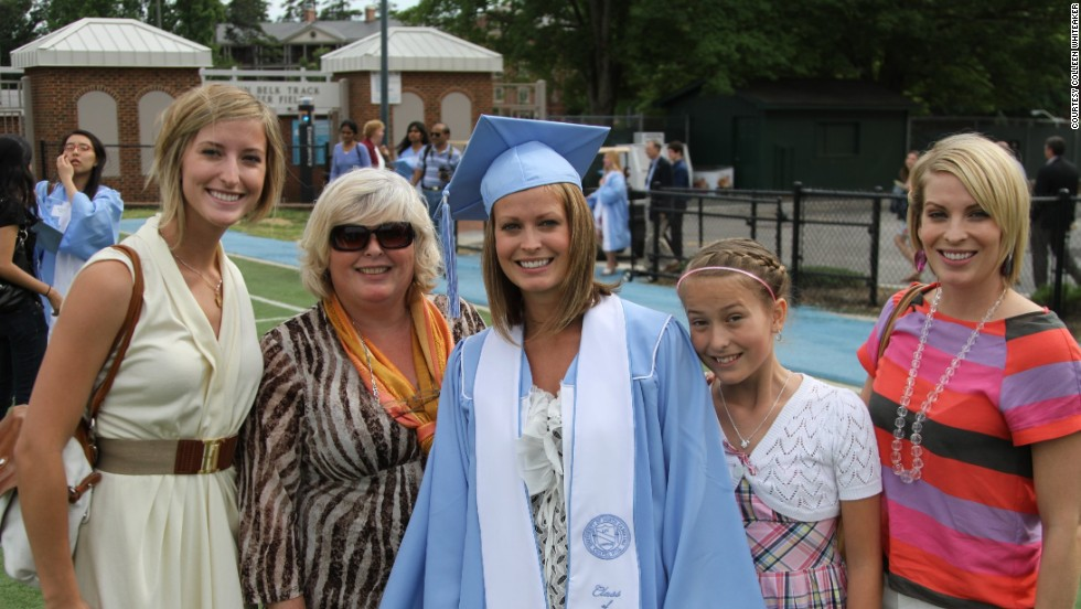 At her daughters' college graduation in 2011, Colleen realized she was tired of being ashamed. She decided then and there to make a change. From left, Chloe, Colleen, Candace, Celeste and Miriam.