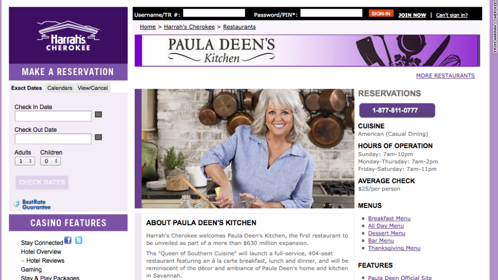 "Caesar's Entertainment Corporation, which operated four Paula Deen-branded restaurants at its casinos, announced that it is severing ties with the chef. Deen still maintains a flagship restaurant, The Lady & Sons, as well as Uncle Bubba's Oyster House (named for her brother Earl ""Bubba"" Hiers), both in Savannah, Georgia."