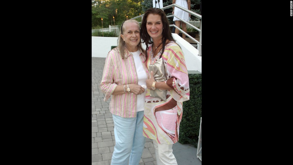 "Brooke Shields attends a magazine party with her mother, Teri Shields, in 2007. Teri was blasted for allowing Brooke to play a child prostitute in the 1978 film ""Pretty Baby"" when she was 15 years old. Teri passed away in 2012 at age 79."