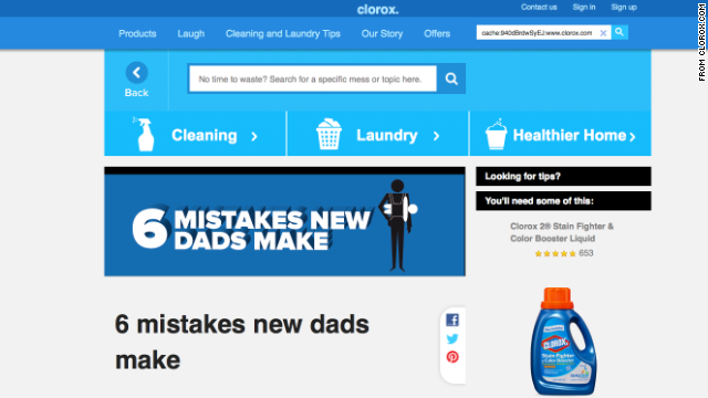 Clorox pulled what was intended to be a humorous Web post listing the shortcomings of new fathers after an internet uproar