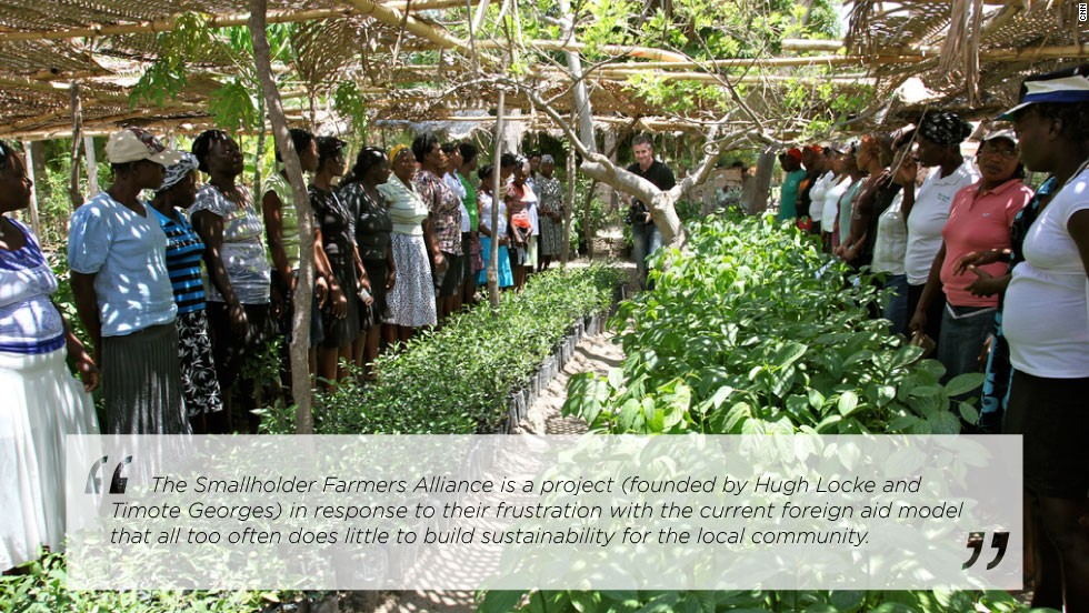 Further north from Cite Soleil near the town of Gonaives is the Smallholders Farmers Alliance, a cooperative of 2,000 farmers which helps establish tree nurseries.