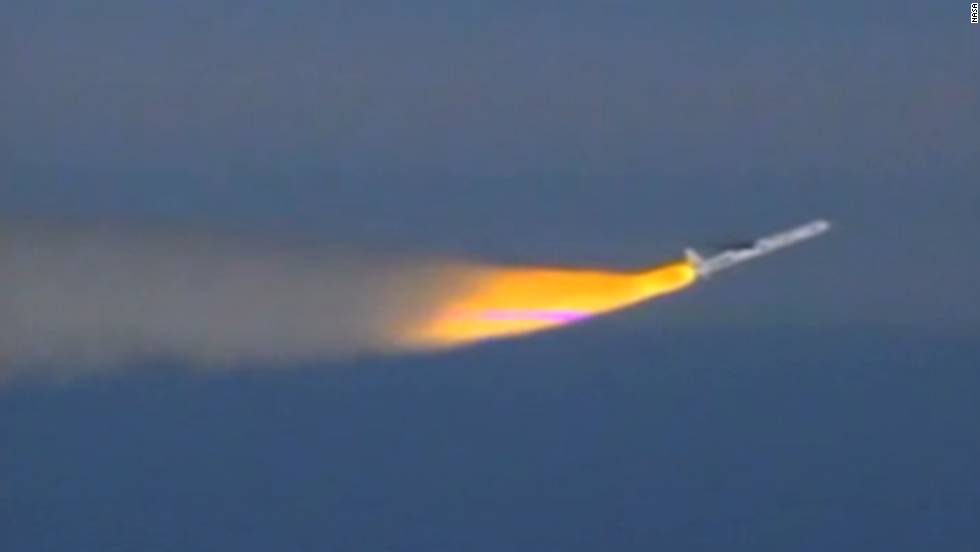 This image taken from video shows the Pegasus rocket taking off with the IRIS spacecraft on board on June 27.