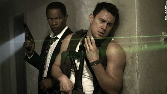 "Channing Tatum and Jamie Foxx star in Roland Emmerich's action movie, ""White House Down."""