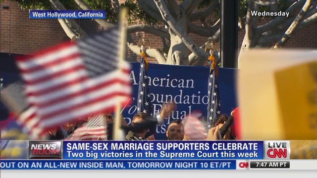 Same-sex marriage supporters celebrate