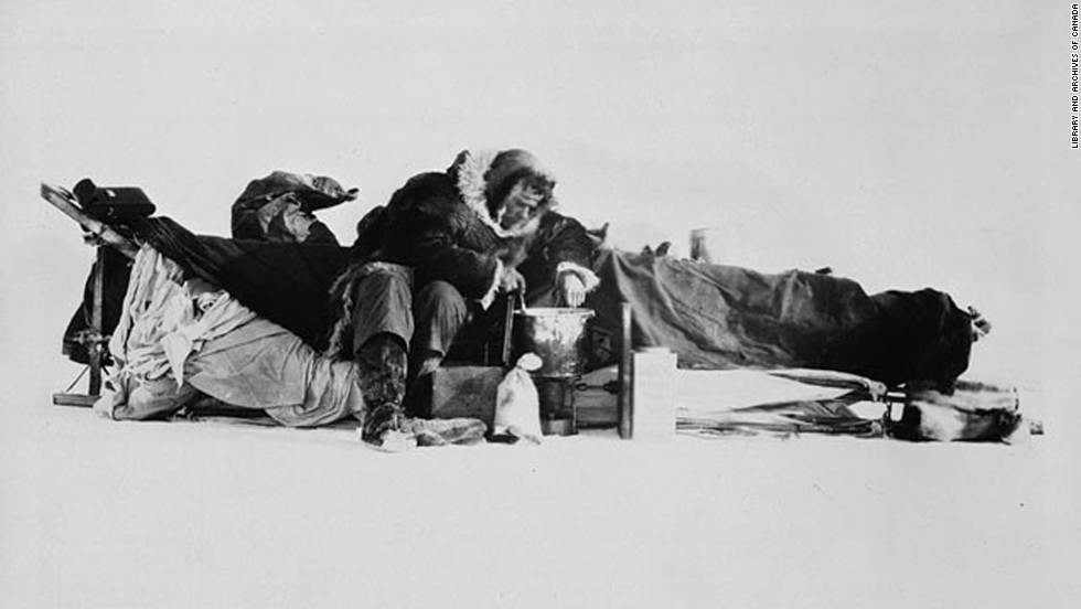 McConnell -- seen here fixing a meal on a sled -- was husky, energetic and just 22 when he set out with the expedition. The mission was to  conquer the last unexplored part of the north.