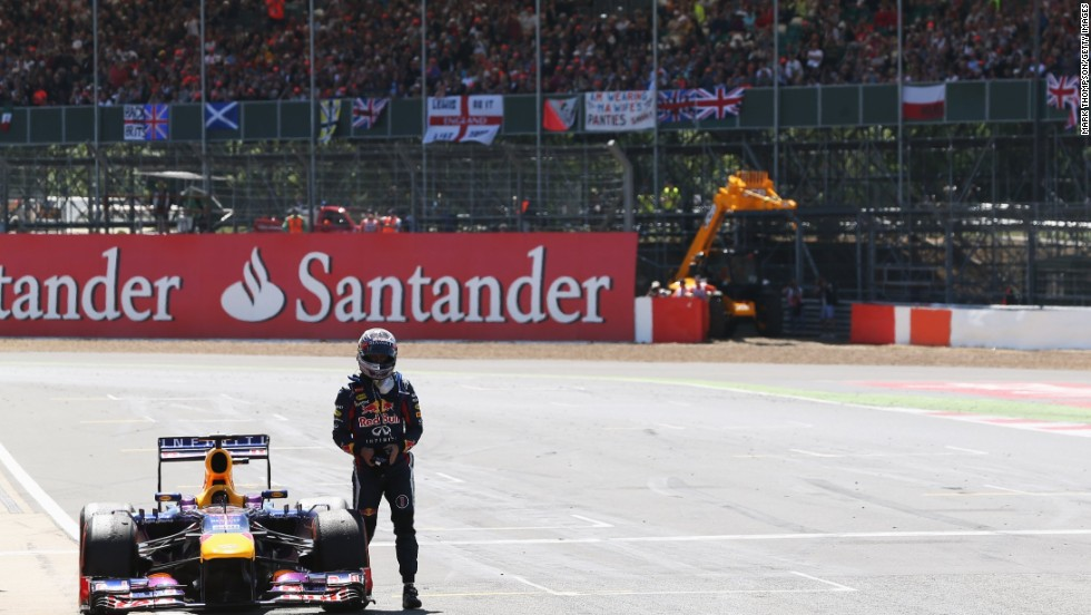 Championship leader Sebastian Vettel had looked set for victory but had to retire with gearbox problems.