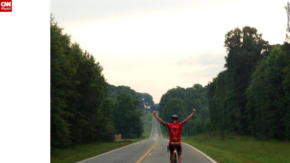 Dave Nazaroff rides from New York to Georgia for the 5-day charity event he and his wife set up for Tripp.
