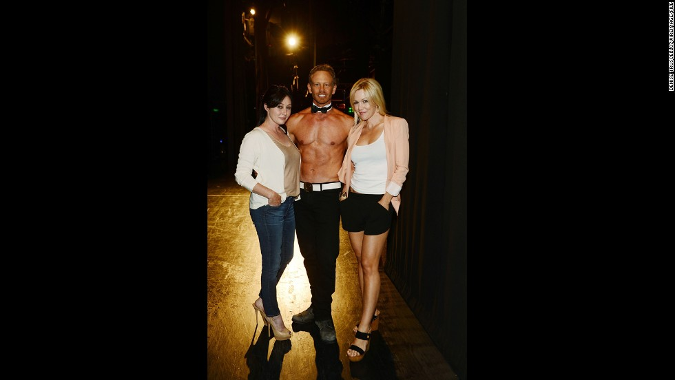 "With Ian Ziering performing at Chippendales this summer, his former ""Beverly Hills, 90210"" co-stars Shannen Doherty and Jennie Garth decided to check out his act in person. Ziering said the two even got in on the action during a few numbers, and evidently had a blast doing so. ""I was very flattered by their comments,"" Ziering has said. ""Judging by their reaction, I know they had a great time."" But how did it compare to a <a href=""http://www.cnn.com/2013/07/12/showbiz/sharknado-twitter"">Sharknado</a>?"