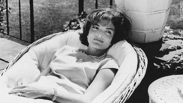 Picture dated December 1961 of US First Lady Jacqueline Kennedy relaxing in a chair, a few weeks after her husband John F. Kennedy won the US presidential election. (Photo credit should read STAFF/AFP/Getty Images)
