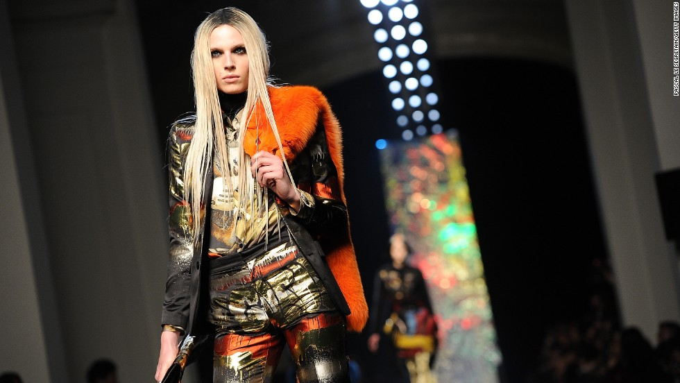 Jean Paul Gaultier featured graffiti-inspired looks in his Fall/Winter 2012 fashion show.