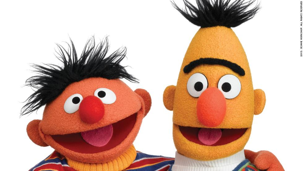 """Sesame Street's"" Muppet characters were originally intended to be support for the human cast, but test audiences responded so warmly to <strong>Bert and Ernie</strong>'s sketches that the producers put Muppets in starring roles. The comic duo have been two of the show's most popular characters ever since."