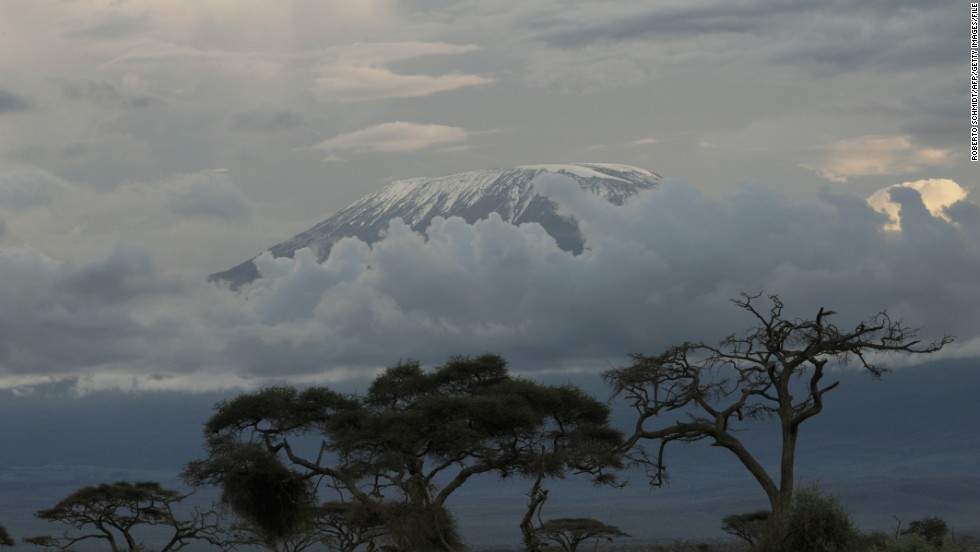 On the way up, trekkers travel through five different climactic zones, reaching arctic cold temperatures around the glaciers that cap Kibo, Kilimanjaro's summit.