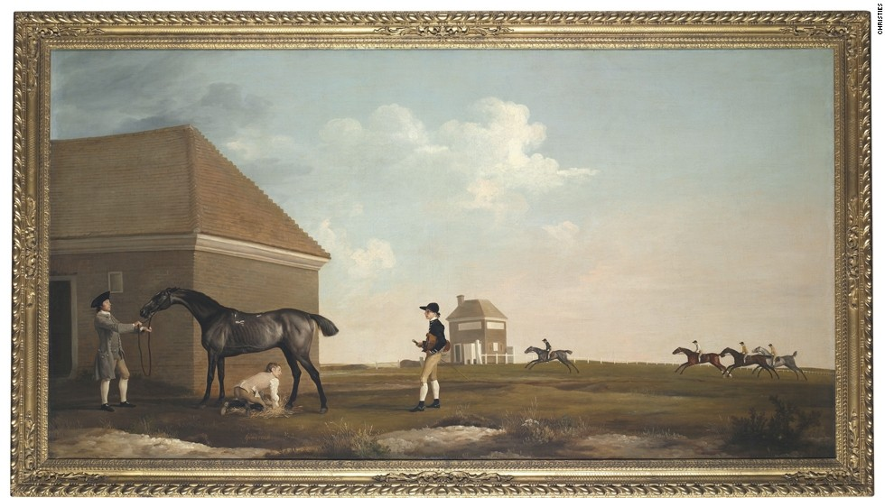 "George Stubbs' ""Gimcrack on Newmarket Heath, with Trainer, a Stable-Lad, and a Jockey"" sold at auction for $35.9 million in 2011. The English artist is regarded as the finest painter of horses in history."