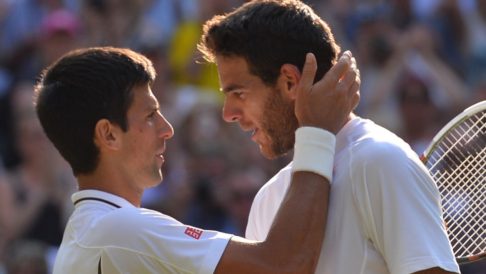 The mutual respect between Djokovic and Del Potro is obvious at the end of their epic clash on Centre Court.