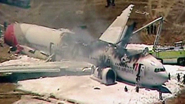 Plane loses tail during crash landing